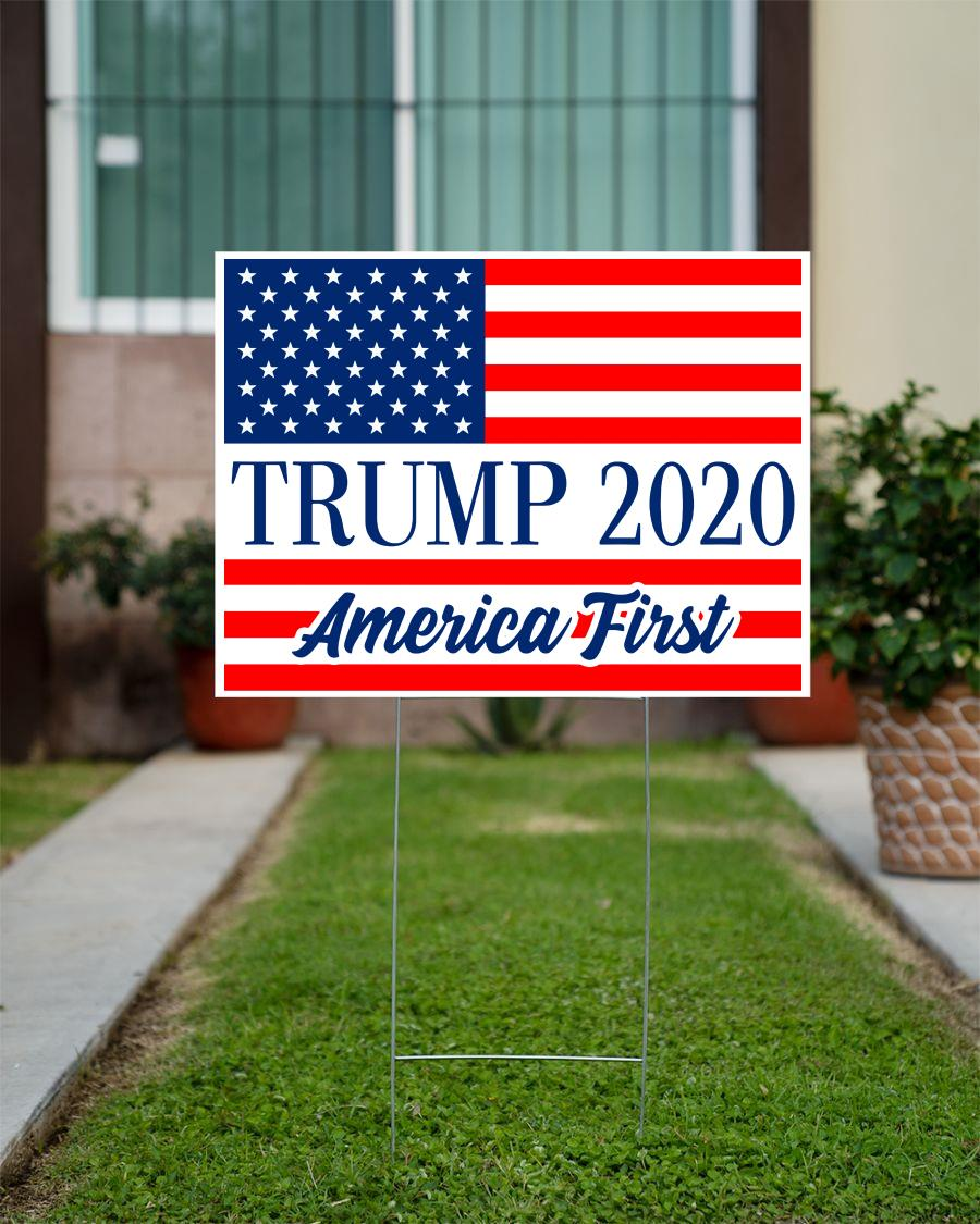 Trump 2020 American first yard side official