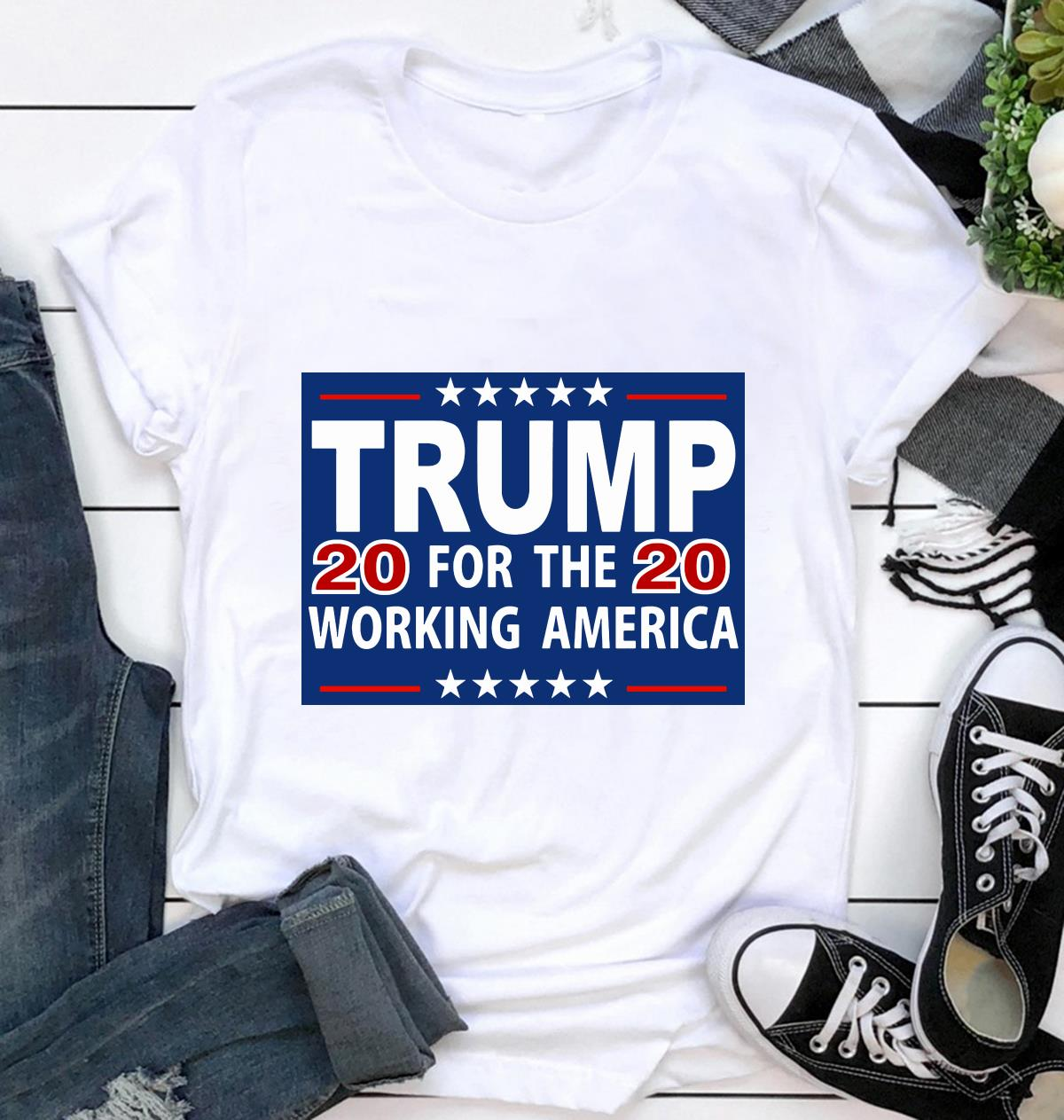Trump 2020 for the working America yard sign ca