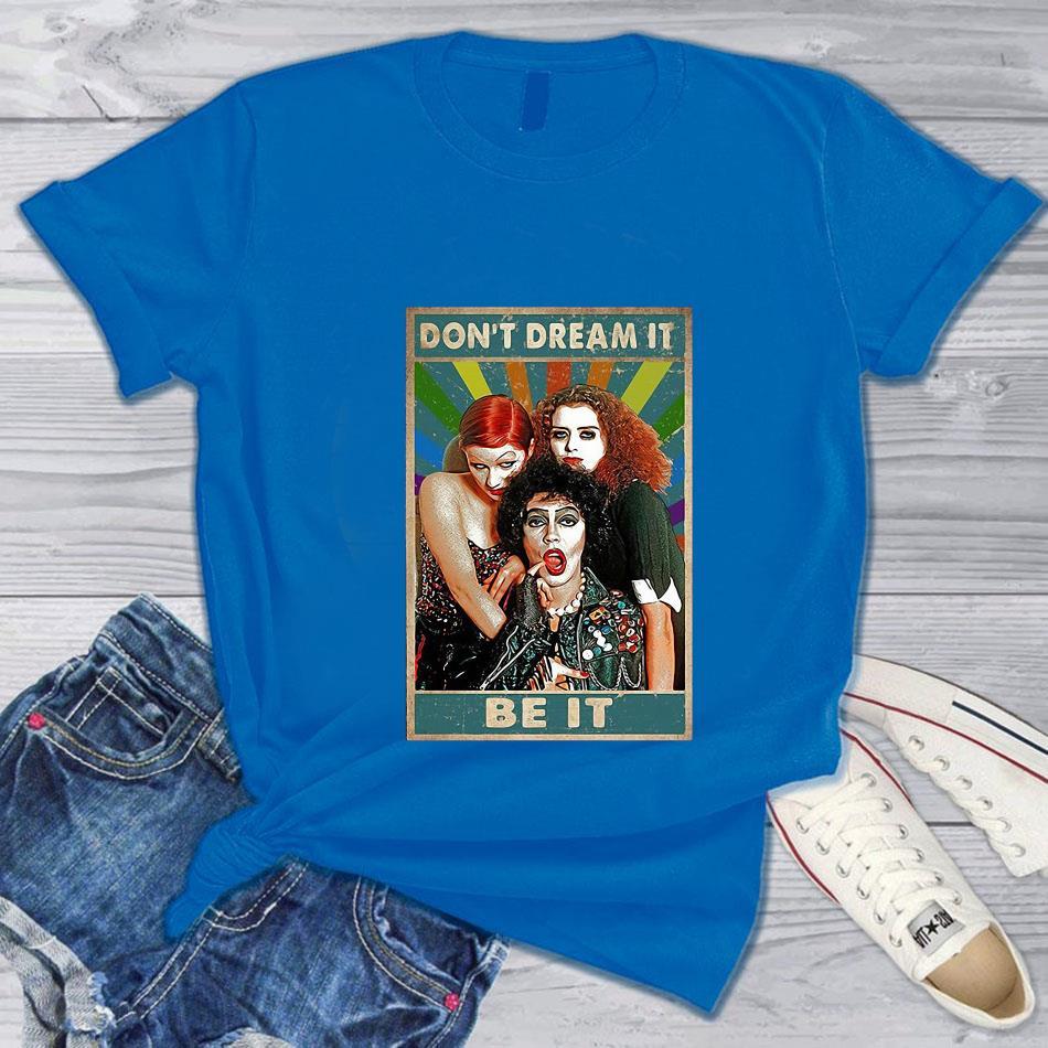 Vintage Rocky Horror dont dream it be it t-s blue