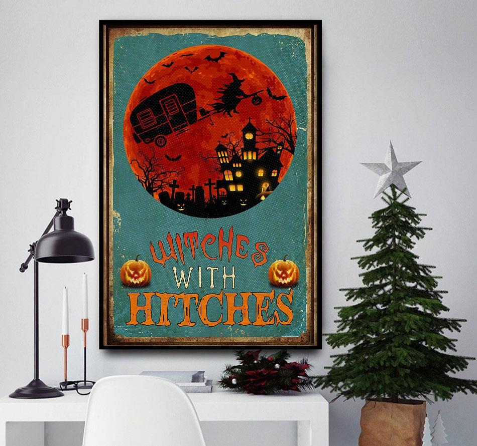Witches with hitches halloween poster