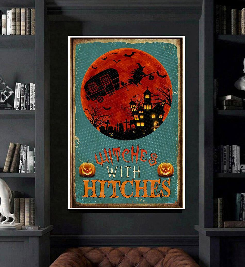 Witches with hitches halloween poster art