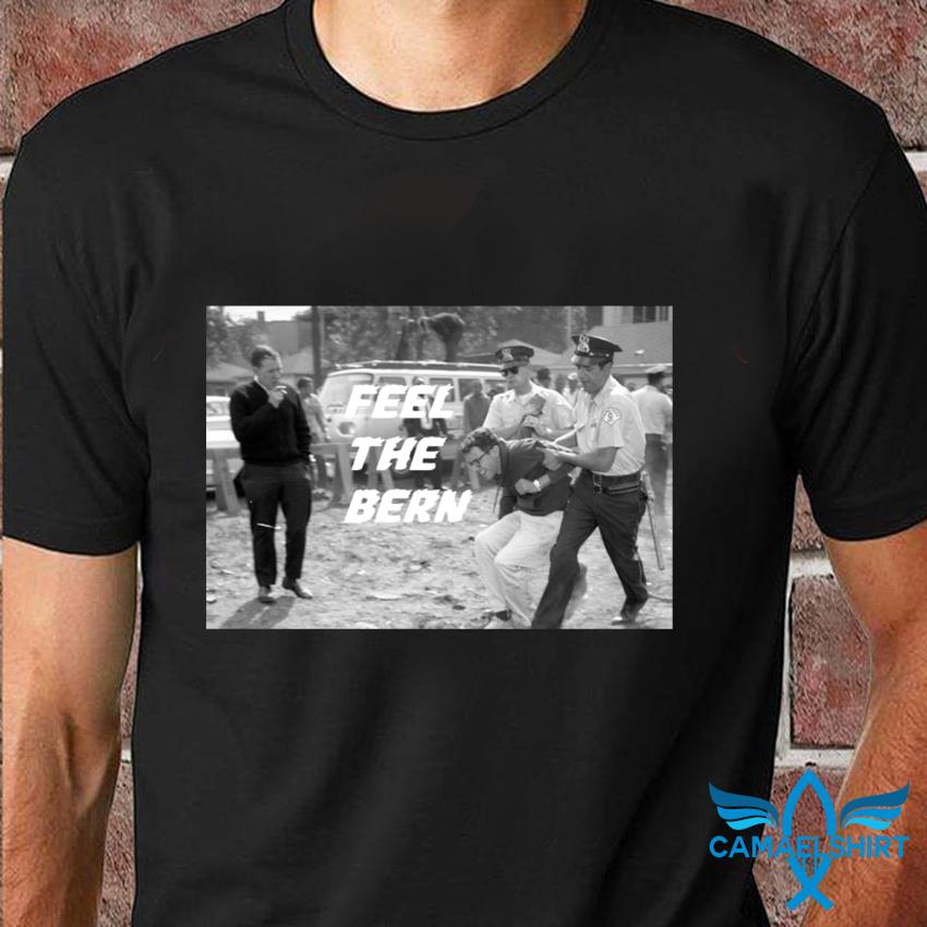 Young activist Bernie Sanders being arrested t-shirt