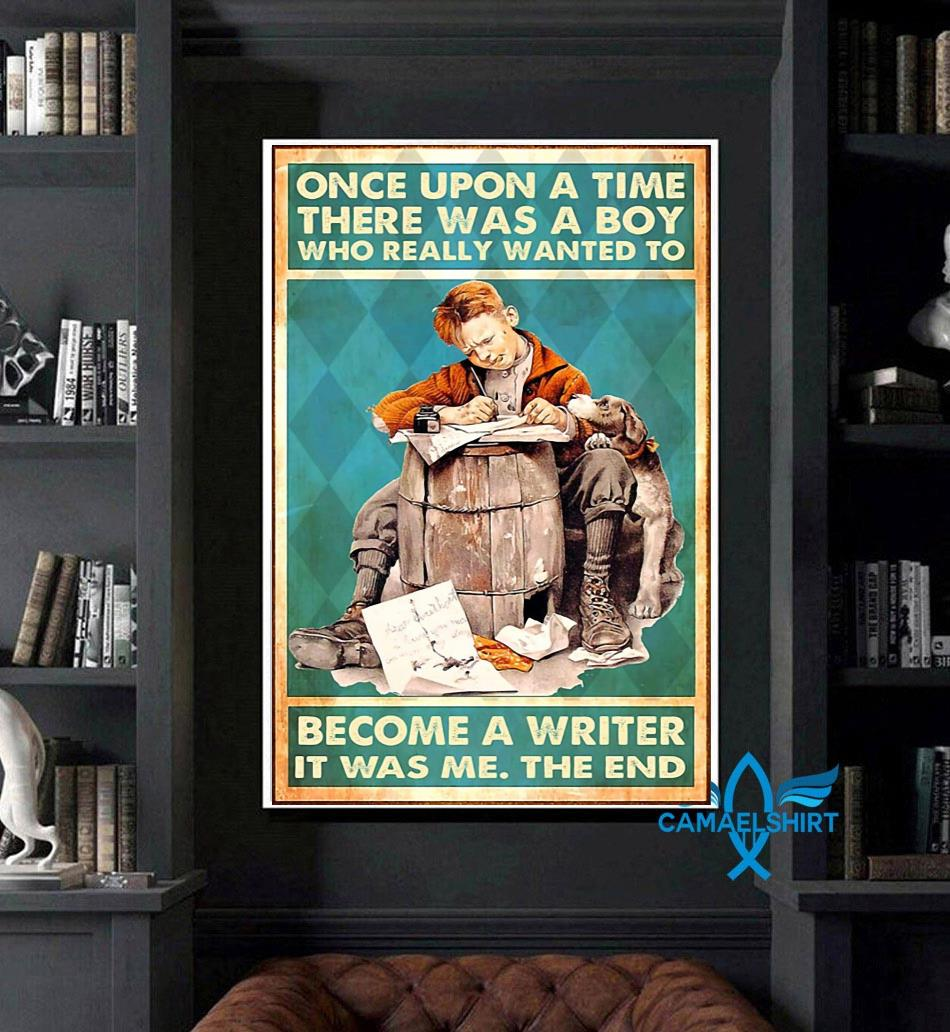 A boy who really wanted to become a writer vertical poster art