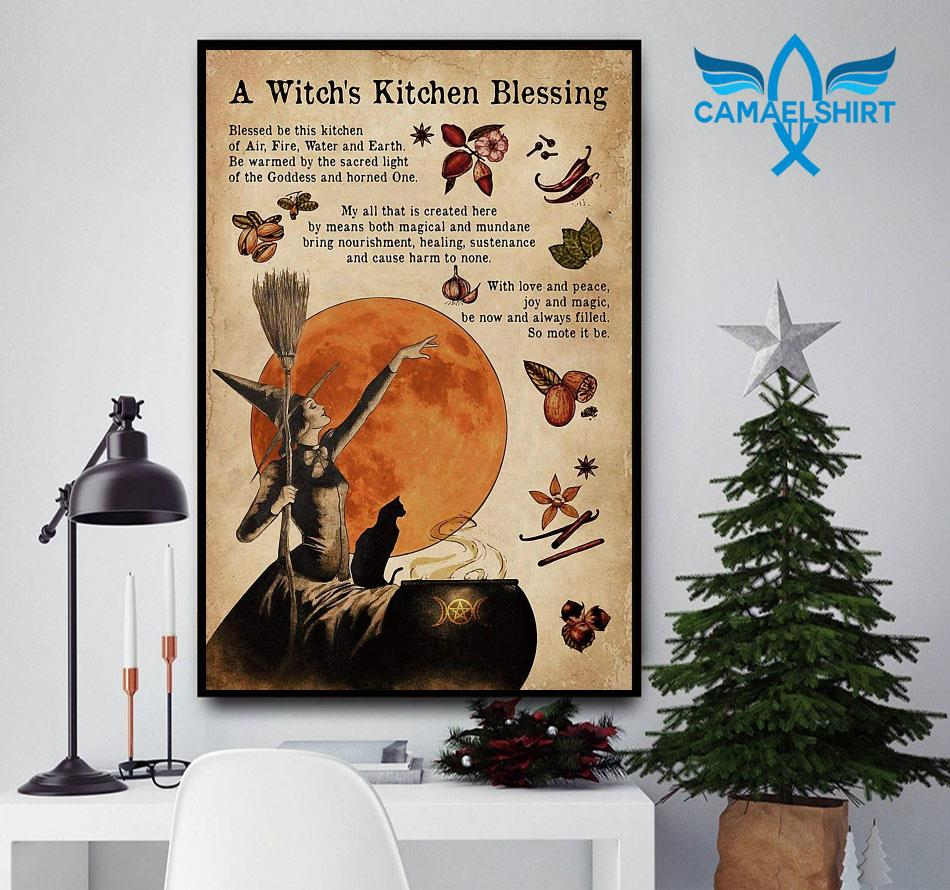 A witch's kitchen blessing gothic girl poster