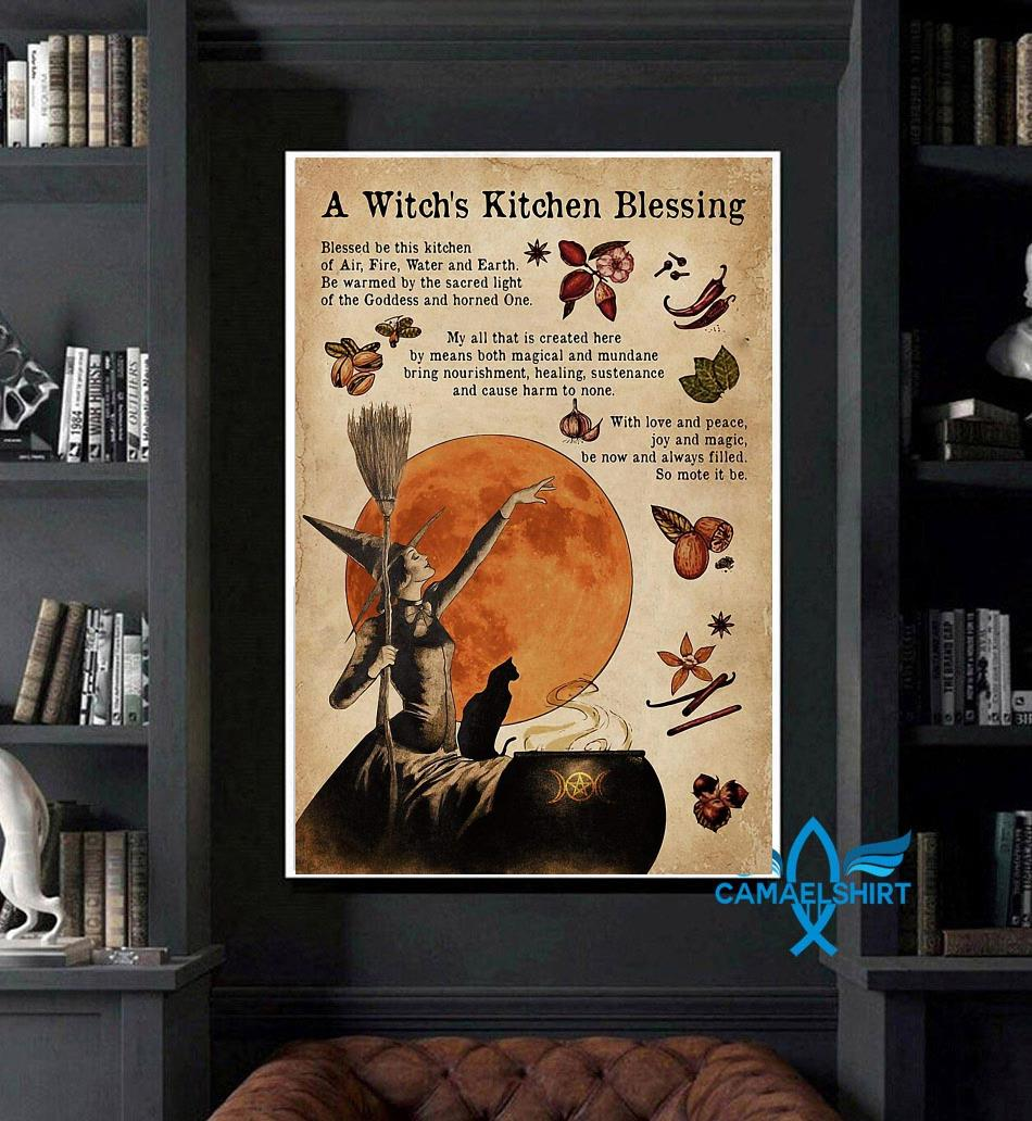A witch's kitchen blessing gothic girl poster art