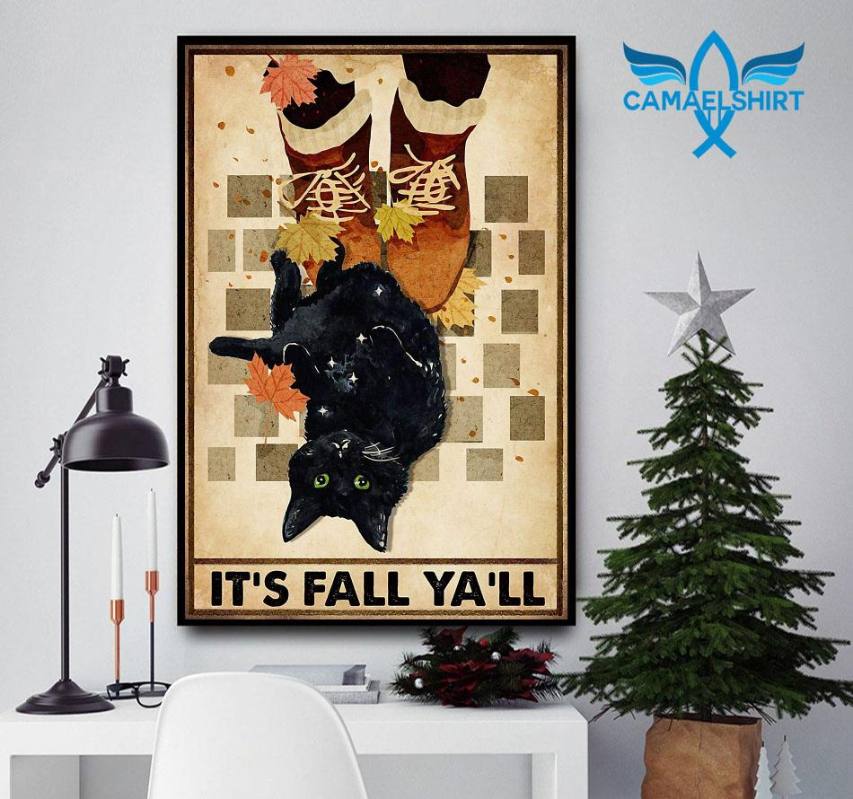 Black cat its fall y'all poster