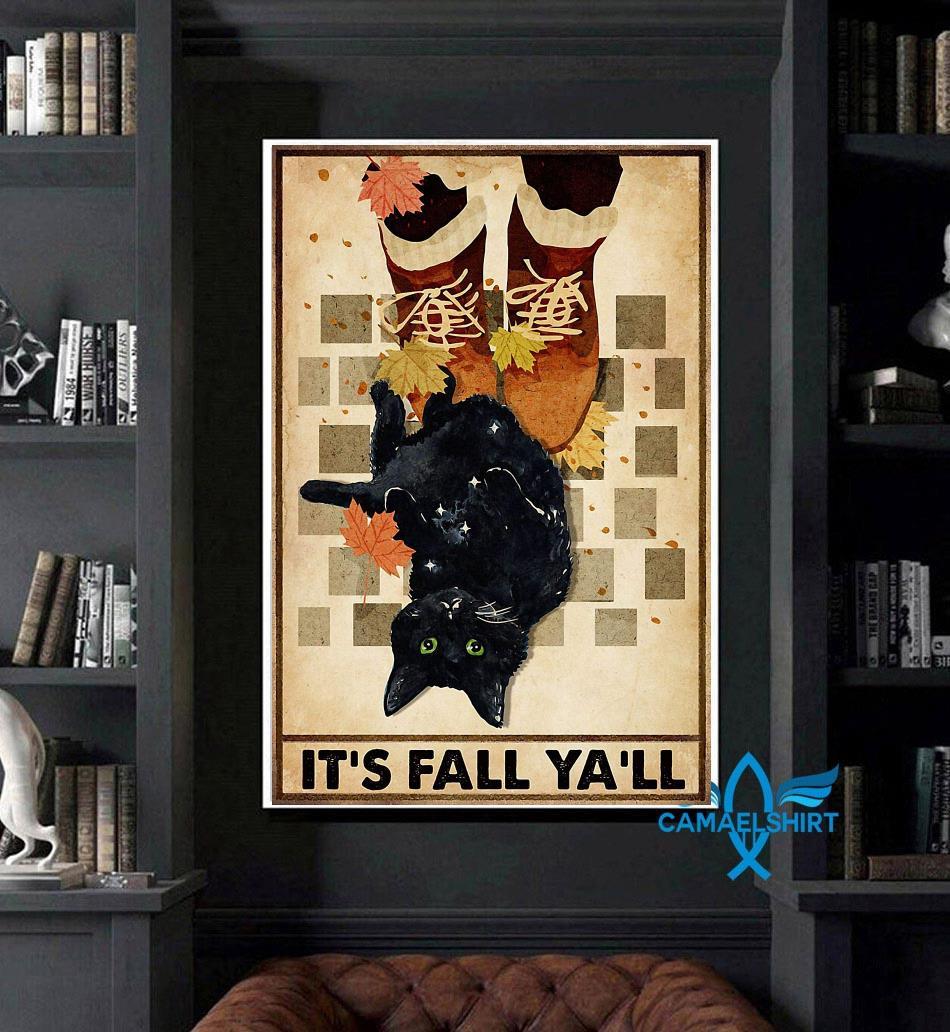 Black cat its fall y'all poster art