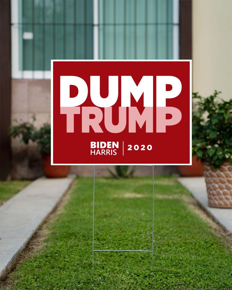 Dump Trump Red Biden Harris 2020 yard sign