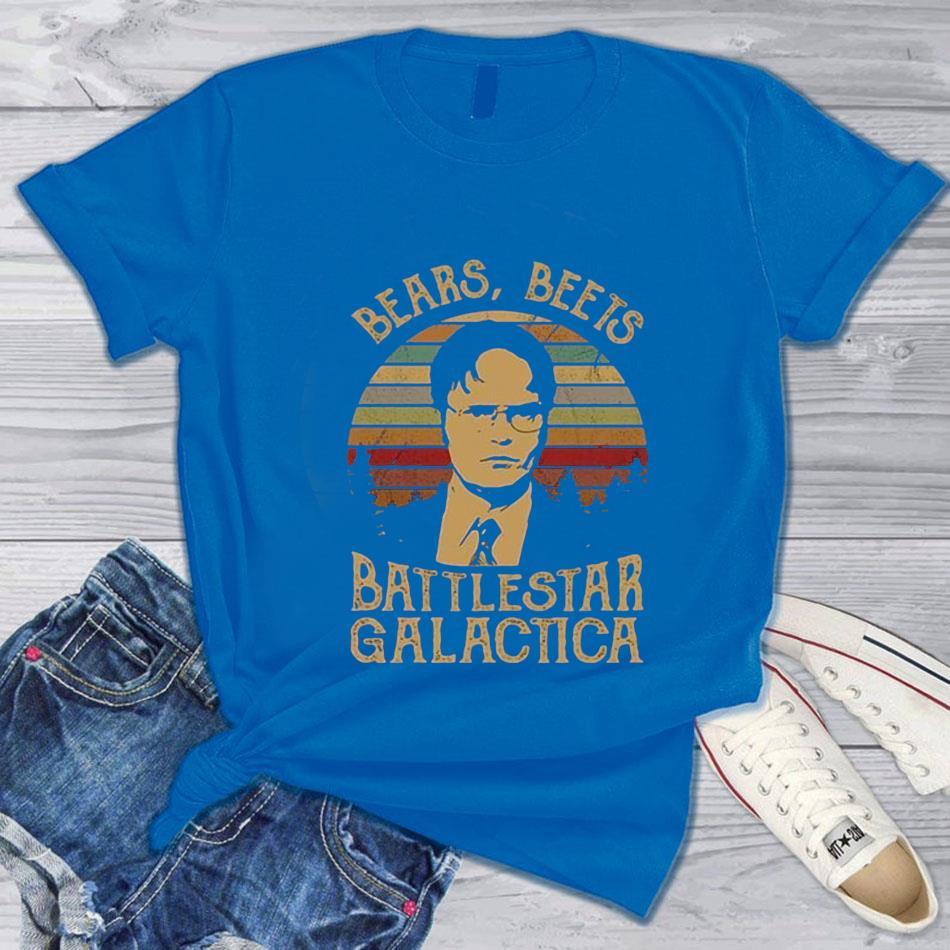 Dwight Schrute bears beets battlestar galactica vintage s blue