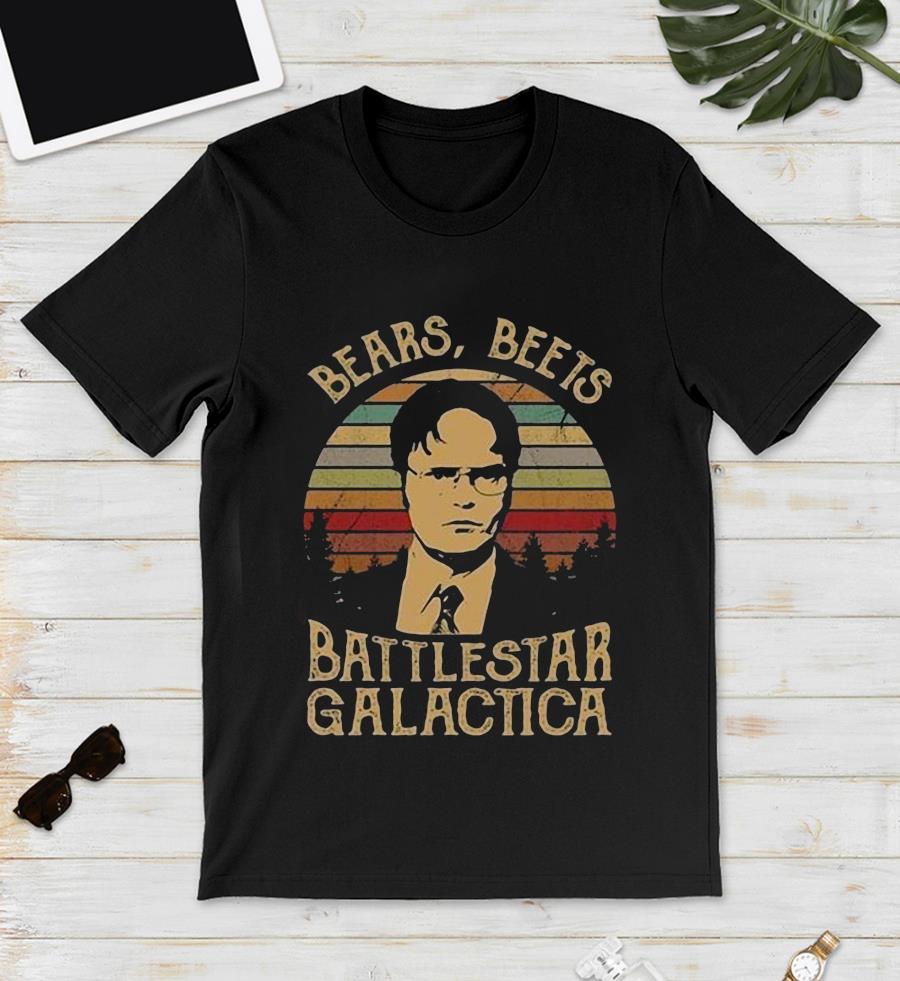 Dwight Schrute bears beets battlestar galactica vintage s unisex