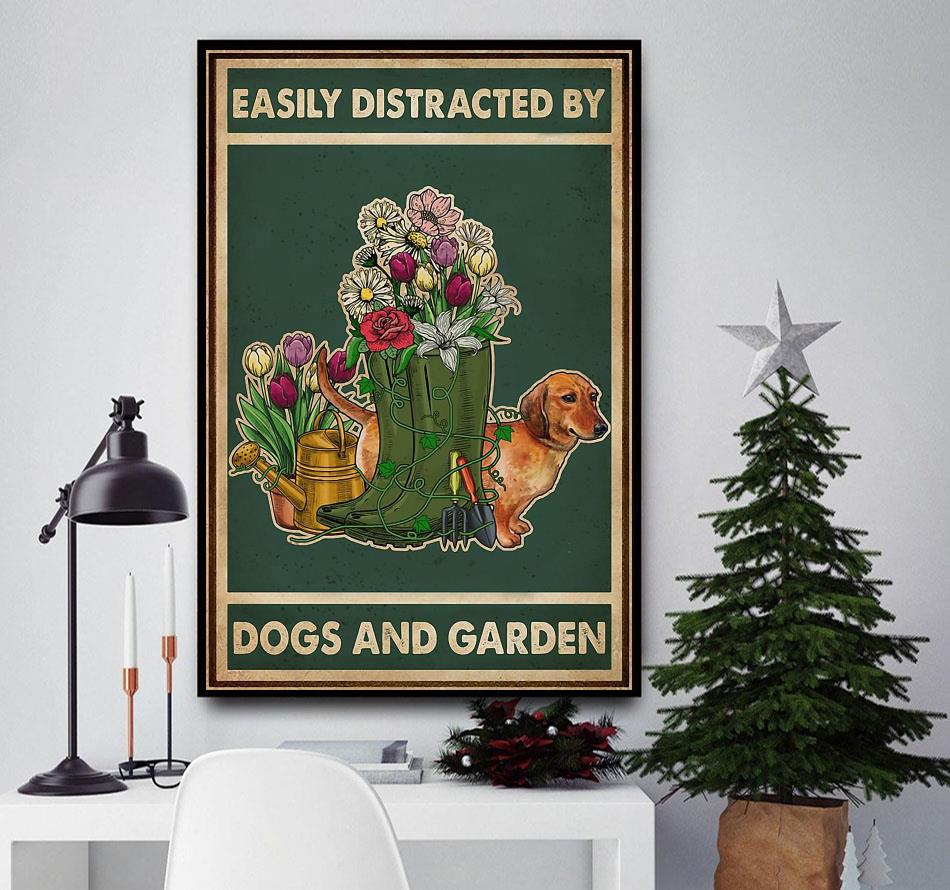Easily distracted by dogs and garden canvas