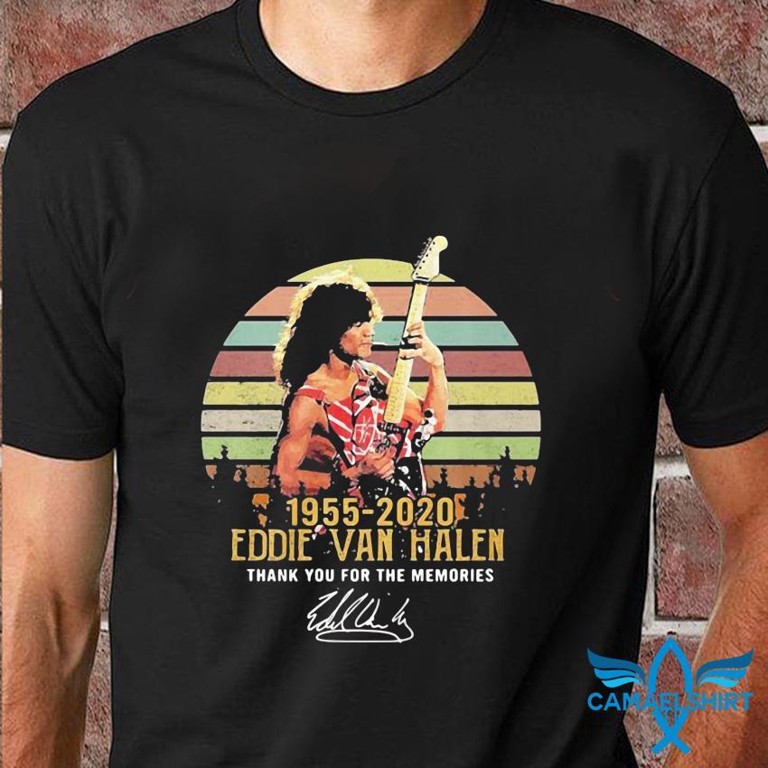 Eddie Van Halen 1955 2020 memories vintage t-shirt
