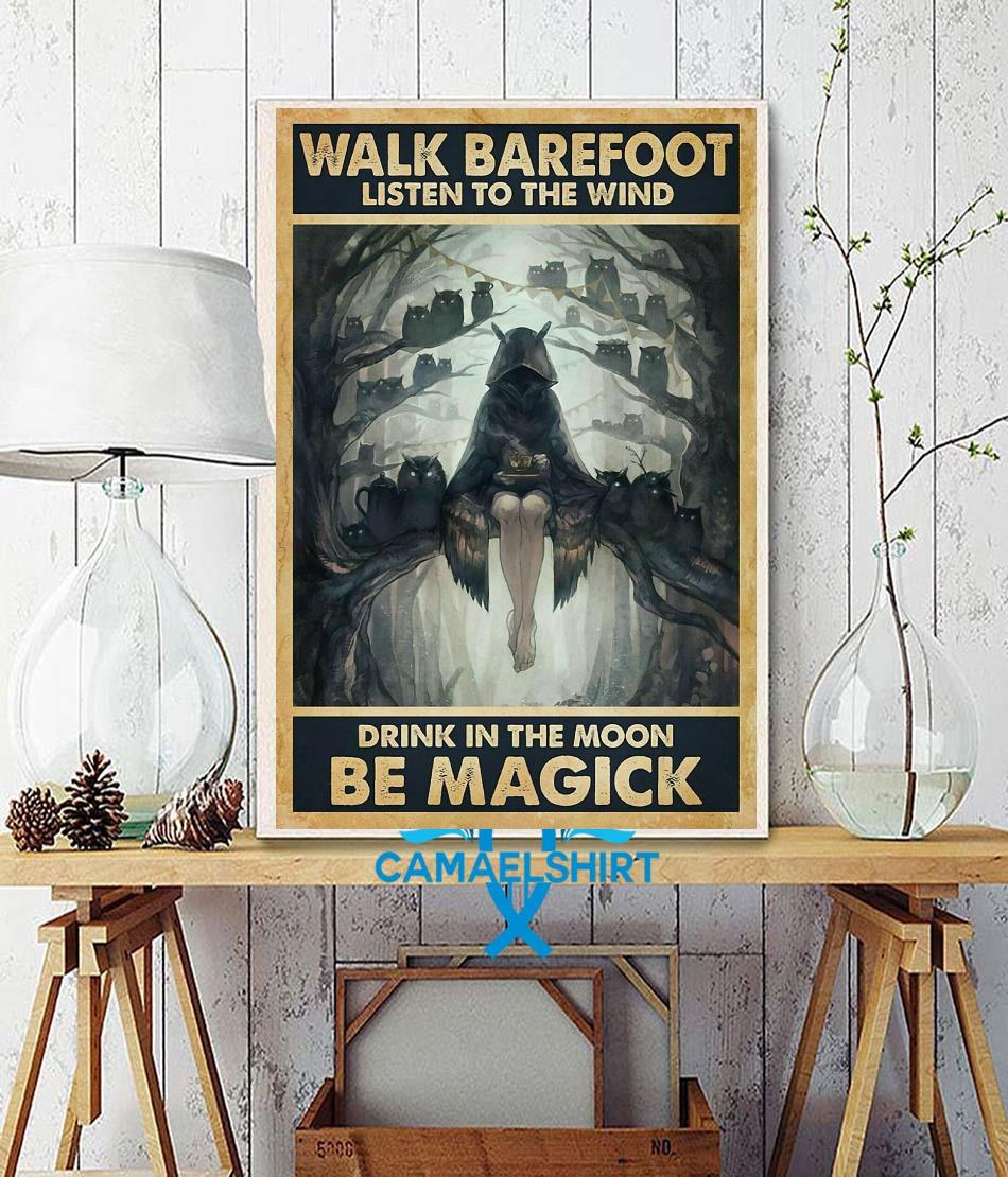 Halloween listen to wind drink in moon be magic poster wall decor