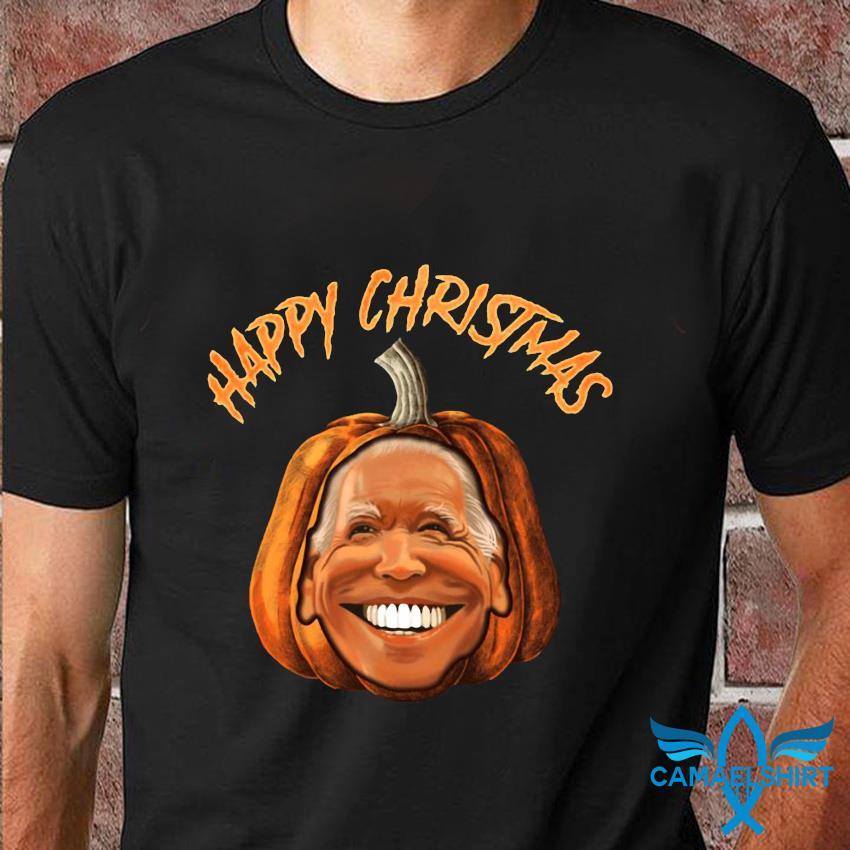 Happy Christmas Joe Biden pumpkin t-shirt