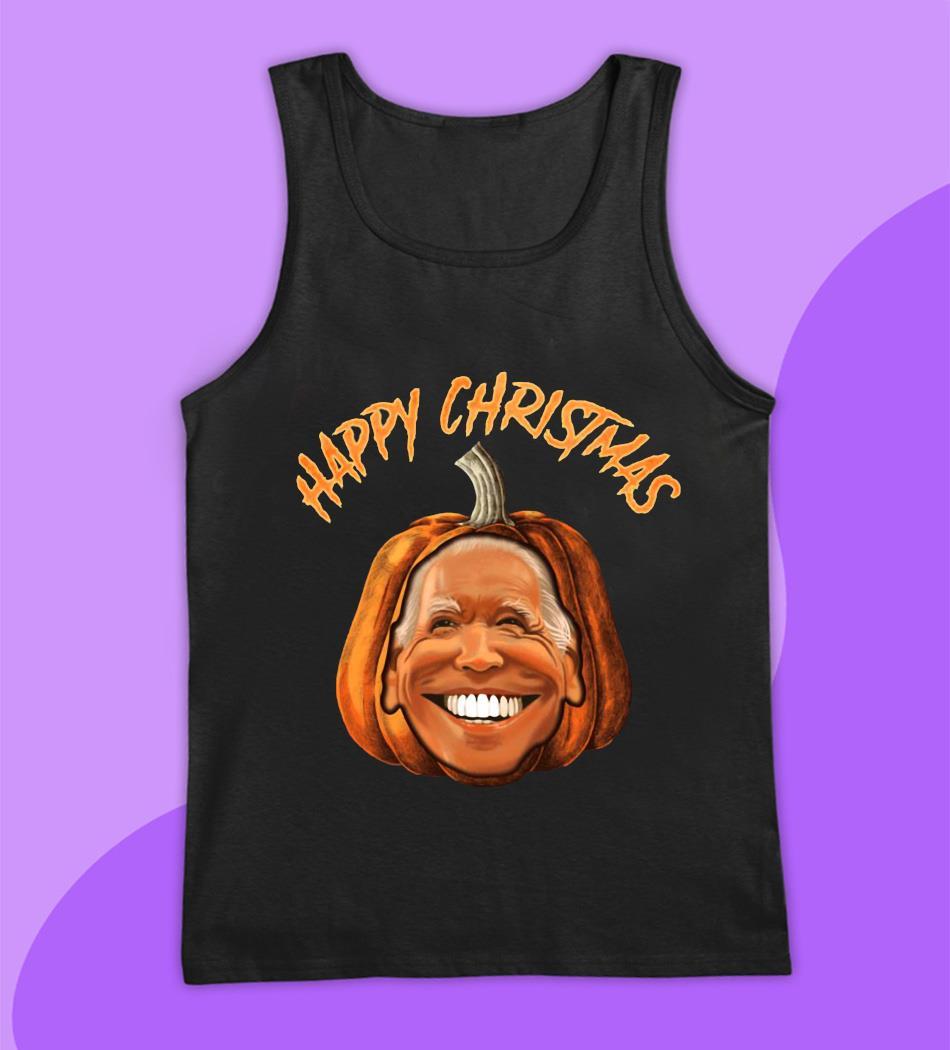 Happy Christmas Joe Biden pumpkin t-s tank top