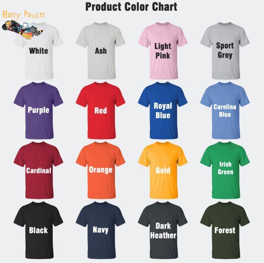 Harry pawter cat broom t-s Camaelshirt Color chart