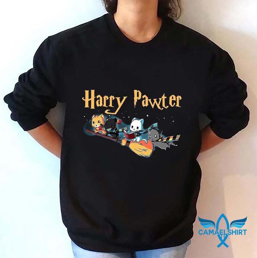 Harry pawter cat broom t-s sweatshirt