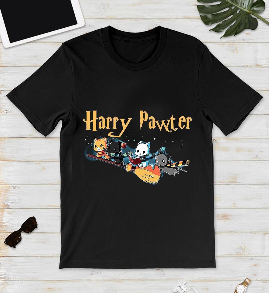 Harry pawter cat broom t-s unisex