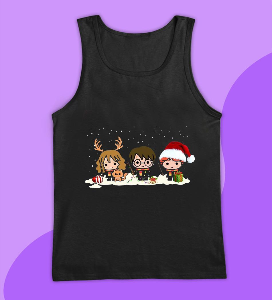 Harry Potter Characters Merry Christmas t-s tank top