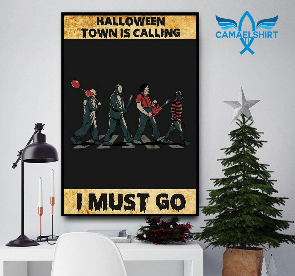 Horror characters halloween town is calling poster