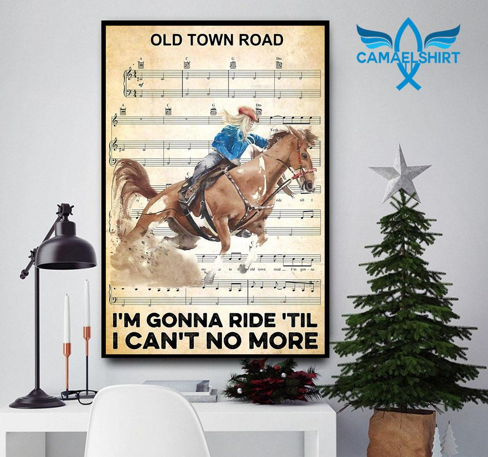 Horse I'm gonna ride til I can't no more poster