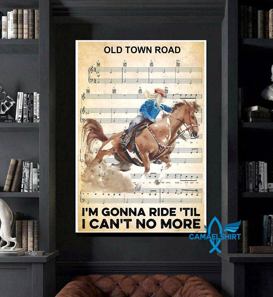 Horse I'm gonna ride til I can't no more poster art