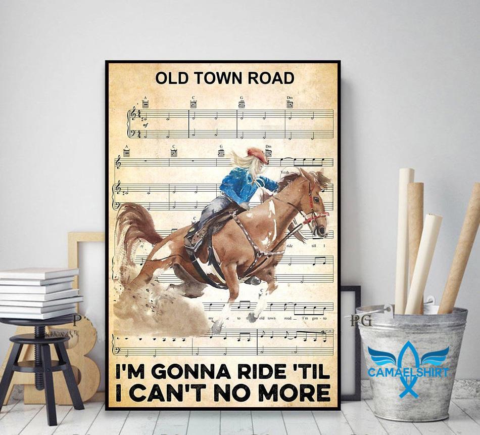 Horse I'm gonna ride til I can't no more poster decor art