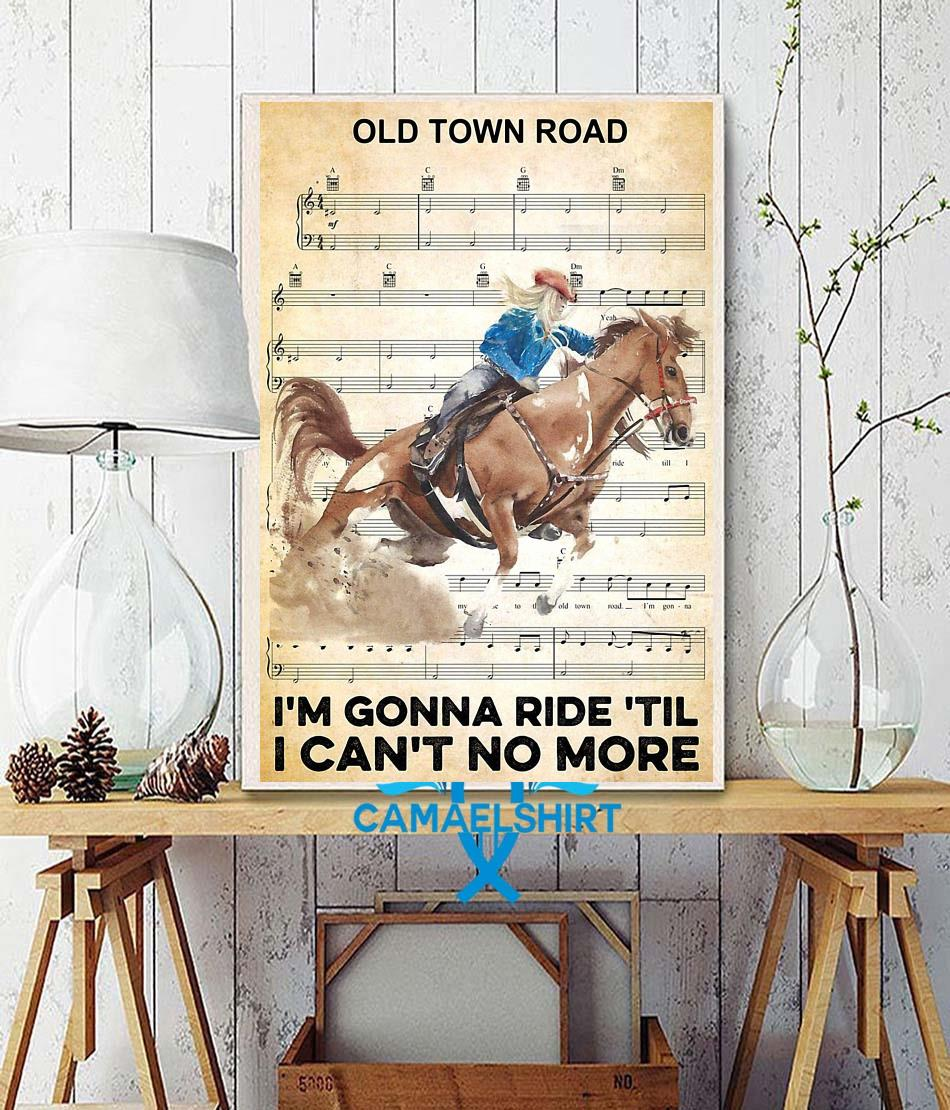 Horse I'm gonna ride til I can't no more poster wall decor