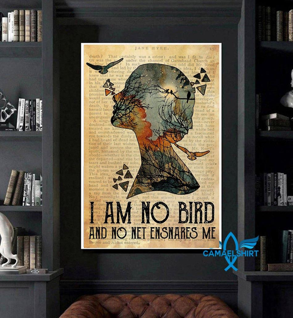 I am not a bird and no net ensnares me poster art