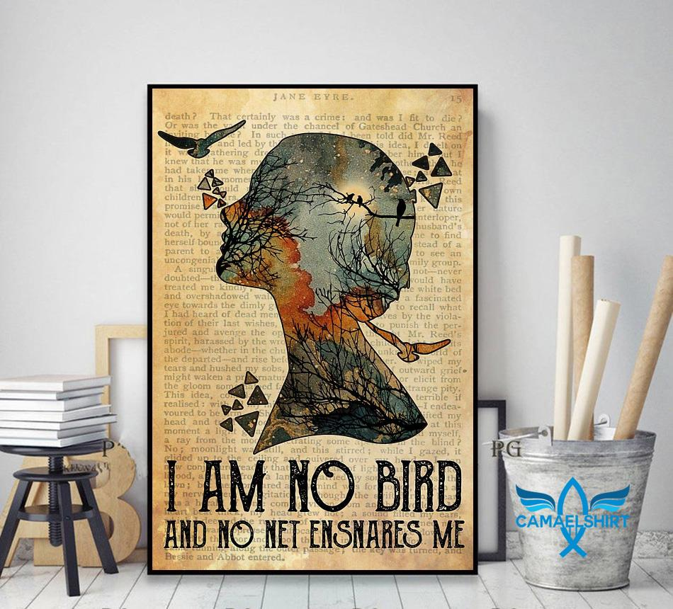 I am not a bird and no net ensnares me poster decor art