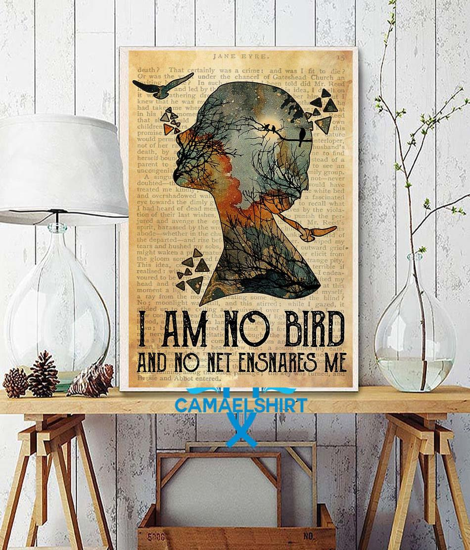 I am not a bird and no net ensnares me poster wall decor