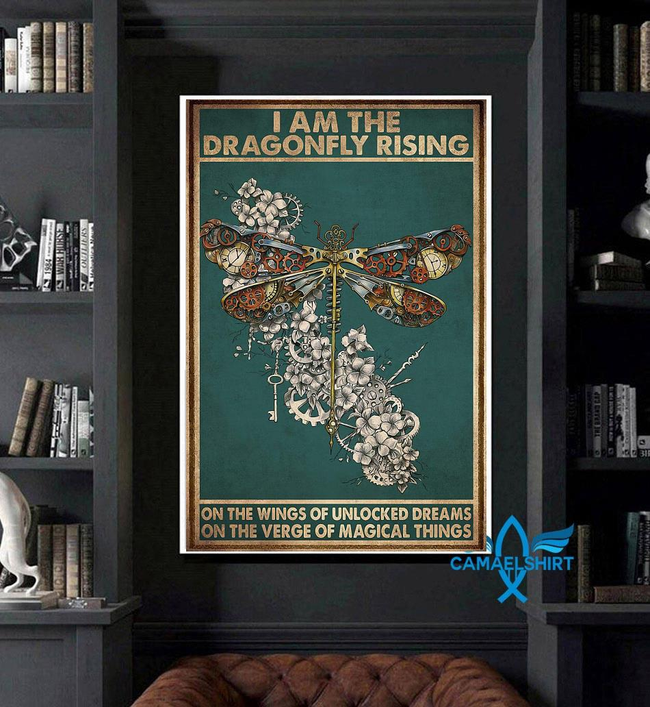 I am the dragonfly rising poster art