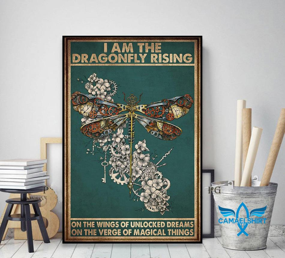 I am the dragonfly rising poster decor art
