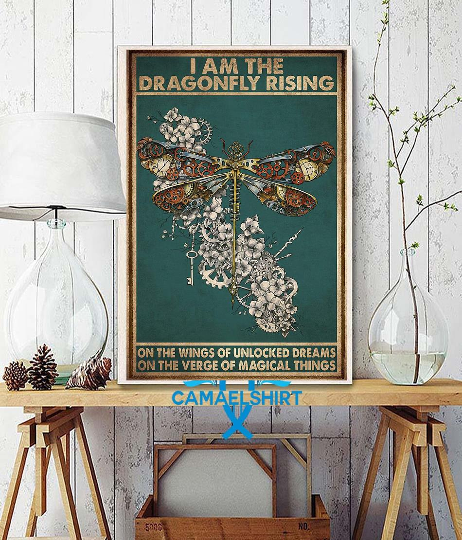 I am the dragonfly rising poster wall decor