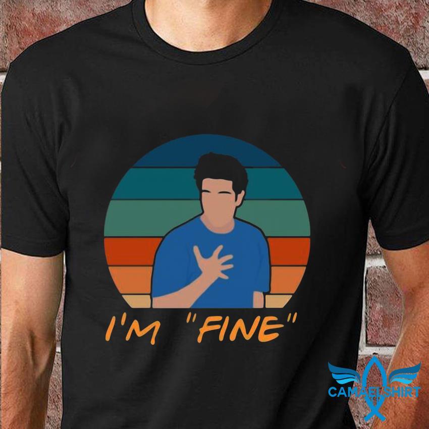 I'm fine ross geller funny sarcasm t-shirt