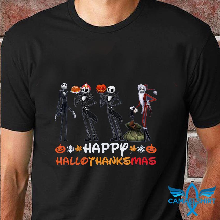 Jack Skellington mashup Santa Claus Hallothanksmas t-shirt