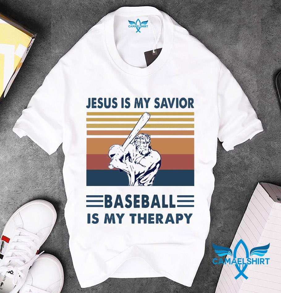 Jesus is my savior baseball is my therapy t-s unisex