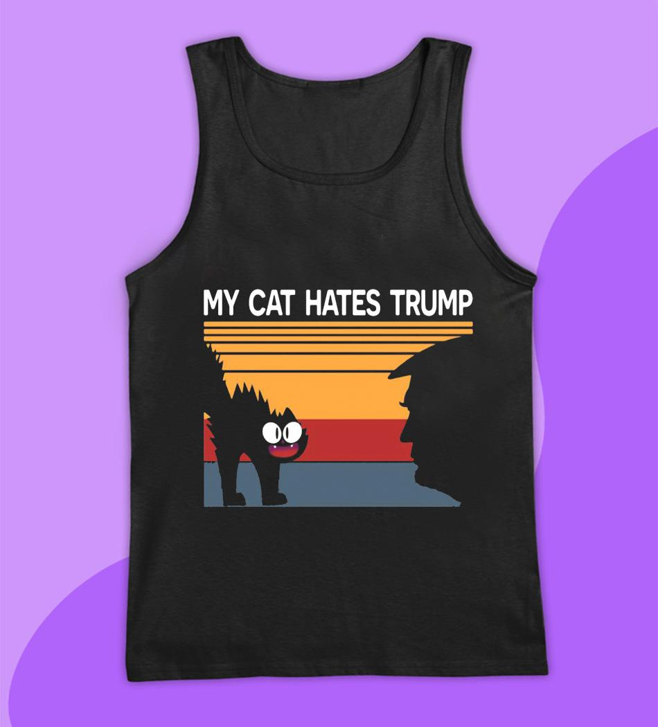 My cat hates trump retro vintage t-s tank top