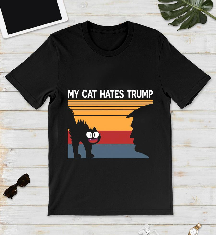 My cat hates trump retro vintage t-s unisex