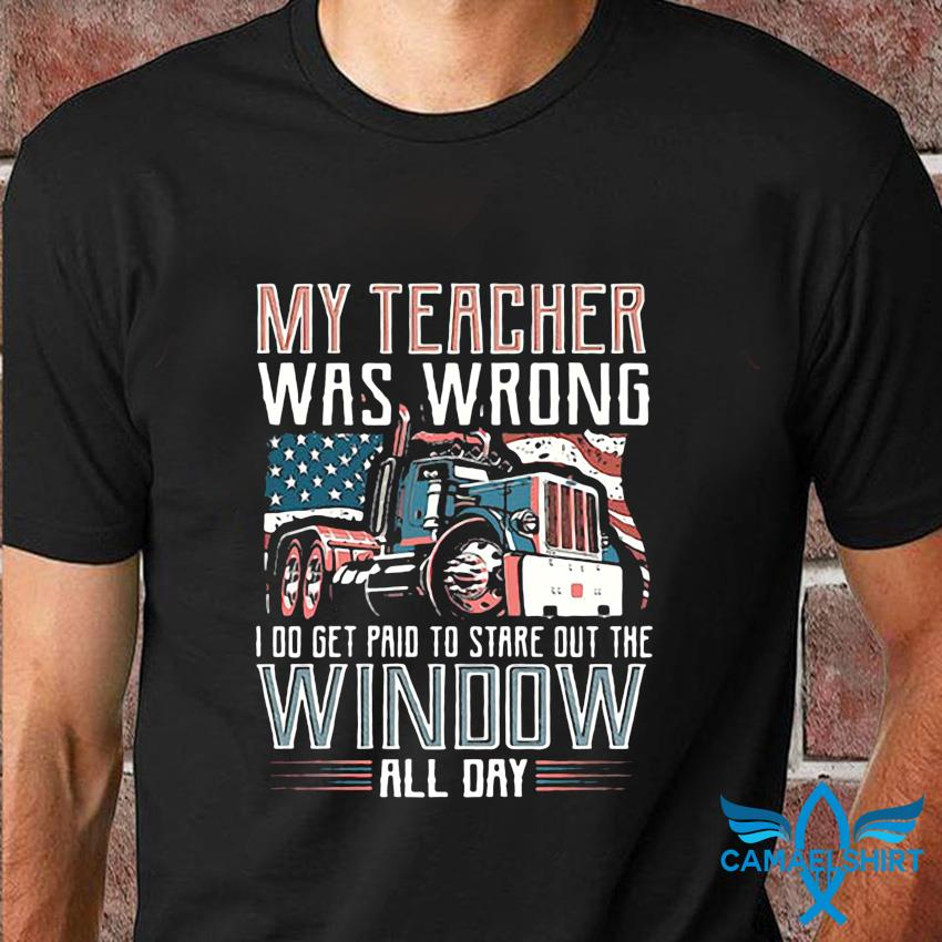 My teacher was wrong I do get pain to stare out the window all day t-shirt