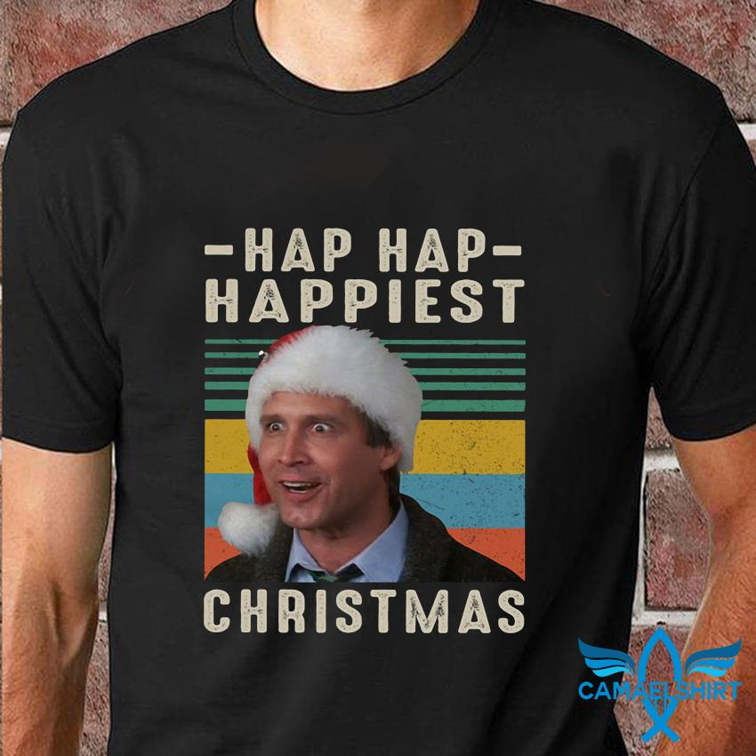National Lampoon's Christmas Vacation hap hap happiest christmas vintage t-shirt