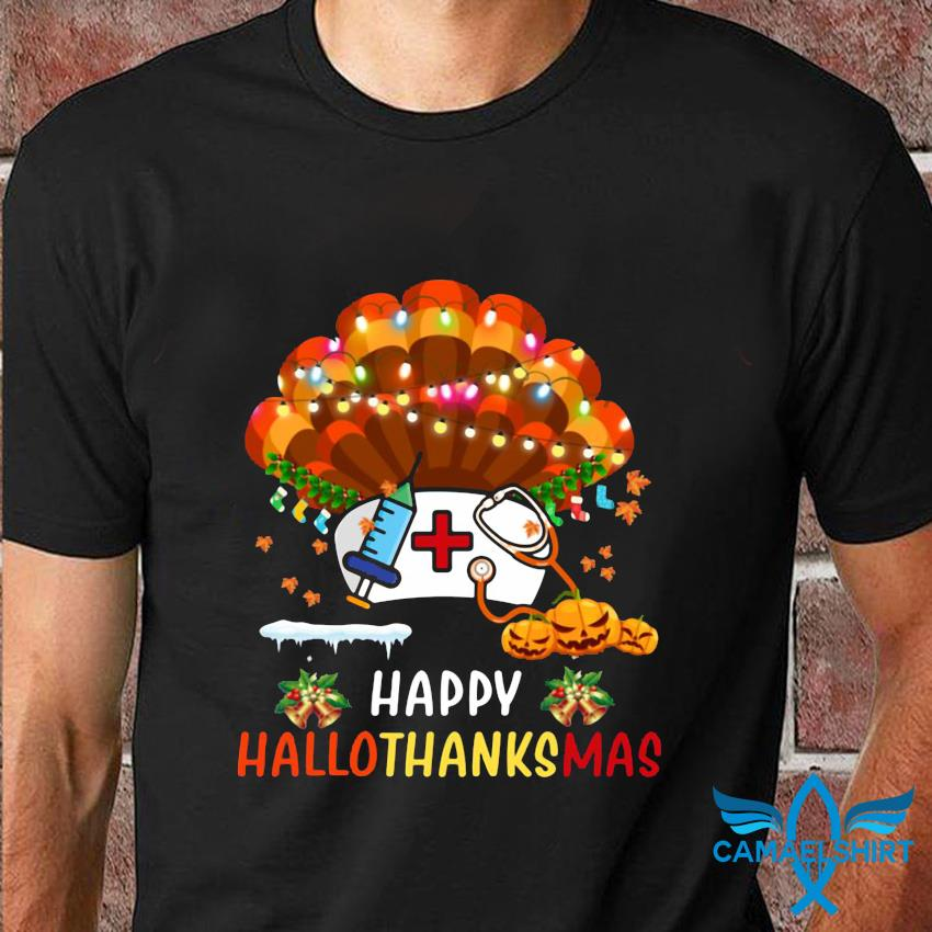 Nurse turkey Happy Hallo Thanks Mas t-shirt