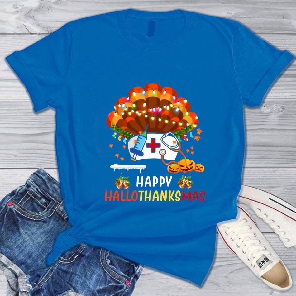 Nurse turkey Happy Hallo Thanks Mas t-s blue