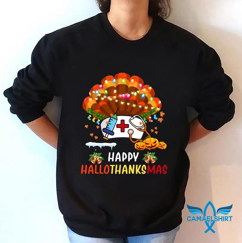 Nurse turkey Happy Hallo Thanks Mas t-s sweatshirt