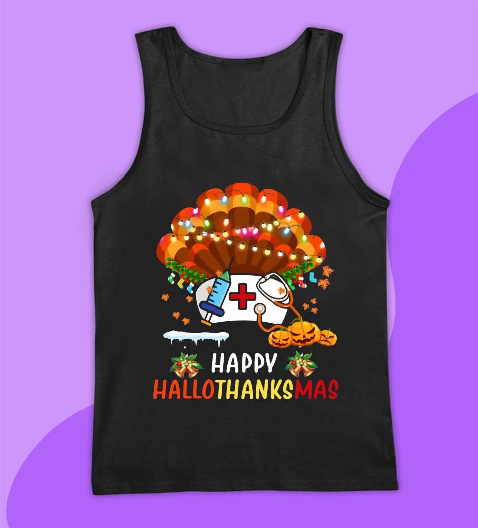 Nurse turkey Happy Hallo Thanks Mas t-s tank top