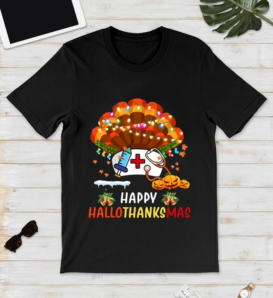 Nurse turkey Happy Hallo Thanks Mas t-s unisex