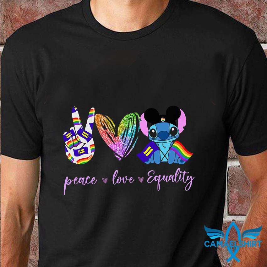 Peace love equality Stitch t-shirt