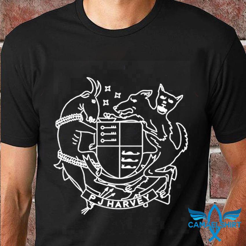 PJ Harvey Cat Of Arms 50ft Queeniet-shirt