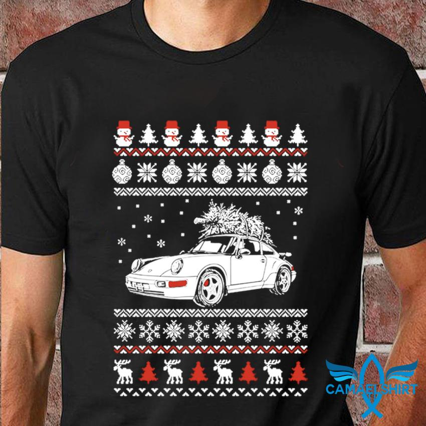 Porsche 964 Brings Christmas Home Ugly t-shirt