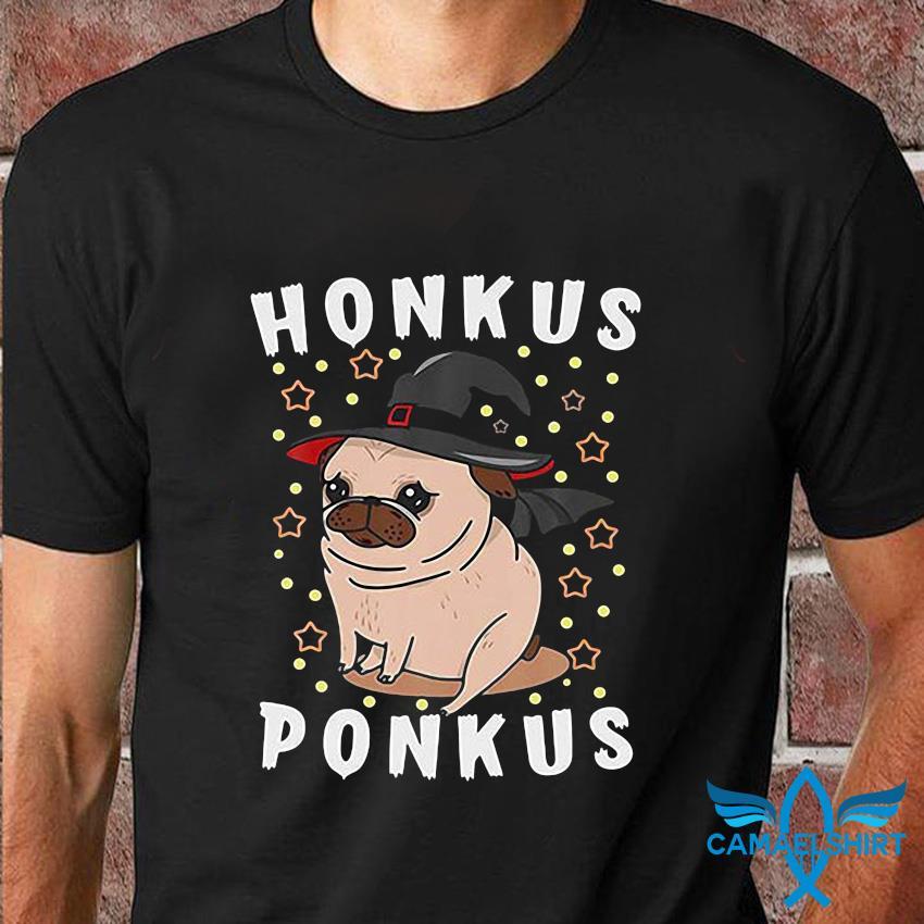Pug Honkus Ponkus Witch Halloween t-shirt